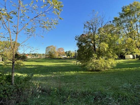 Commercial lot for sale in village of camden new york view of road frontage from Wolcott Street
